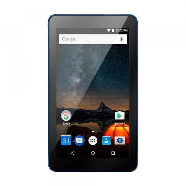 Tablet Multilaser M7S Plus Quad Core Câmera Wi-Fi 1 Gb de Ram Tela 7 Pol. Memória 8Gb Azul - NB274