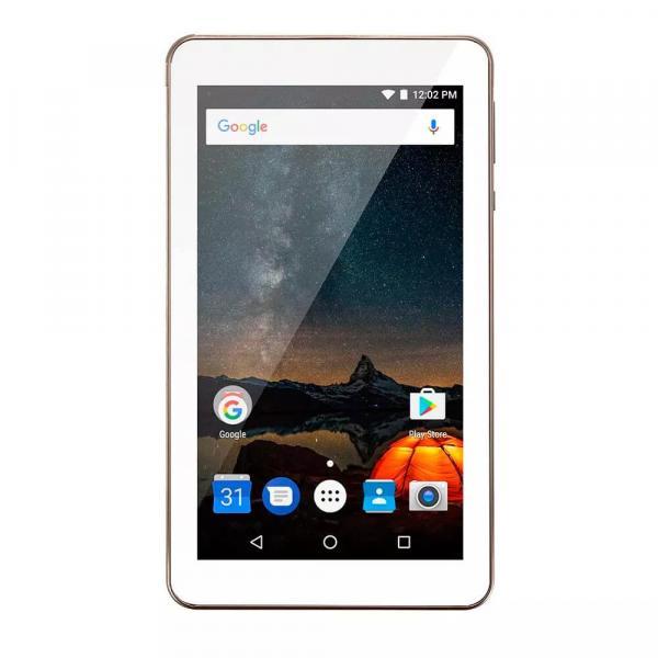 Tablet Multilaser M7S Plus Quad Core Câmera Wi-Fi 1 GB de RAM Tela 7 Pol Memória 8GB Dourado