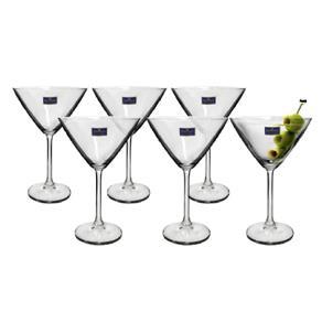 Tudo sobre 'Taça Martini de Cristal Bohemia 280ml Jogo 6'