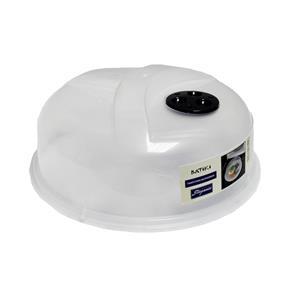 Tampa de Plástico de Proteção para Microondas - Branco