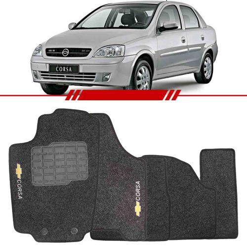 Tudo sobre 'Tapete Carpete Grafite Corsa 2003 a 2012 Logo Chevrolet Bordado 2 Lados Dianteiro'