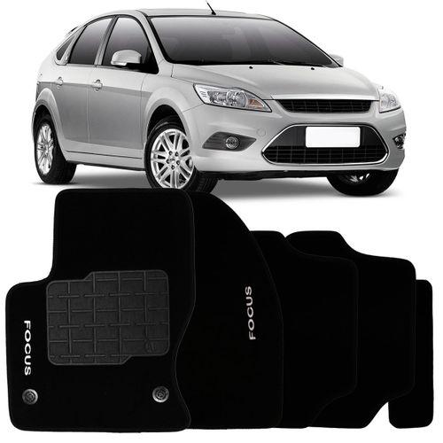 Tudo sobre 'Tapete Carpete Preto Ford Personalizado Focus 2012 2013 Bordado 2 Lados Dianteiro'