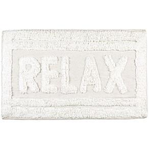 Tapete de Banheiro Relax Branco