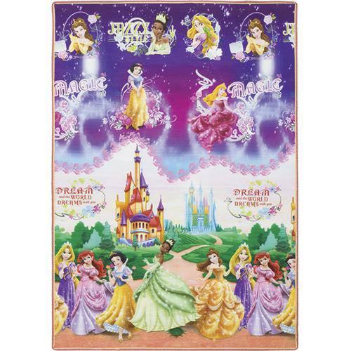 Tudo sobre 'Tapete Disney Princesas 120x180cm - Jolitex'