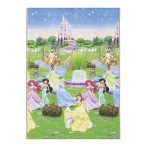 Tapete Disney Recreio Enrolado Princesas 120x180 Cm - Jolitex - Verde