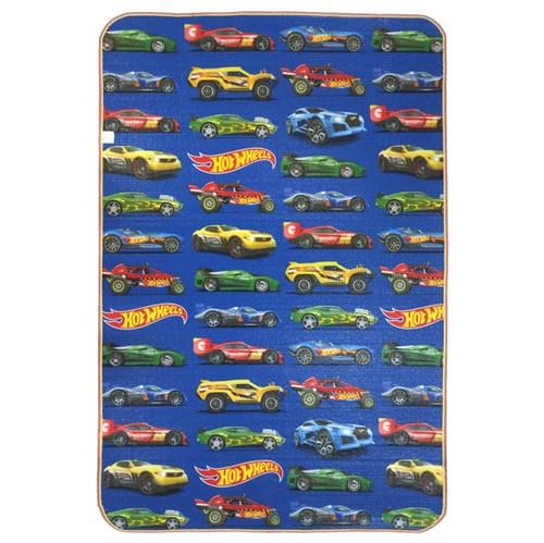 Tapete Infantil Recreio Hot Wheels Azul 1,20x1,80m