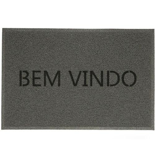 Tudo sobre 'Tapete para Cozinha Vinil Br Light Cinza Bem Vindo 0,40X0,60 M -'