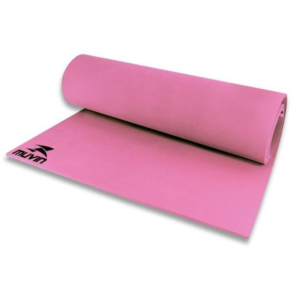 Tapete para Yoga em EVA - 180cm X 60cm X 0,5cm - Pink - Muvin
