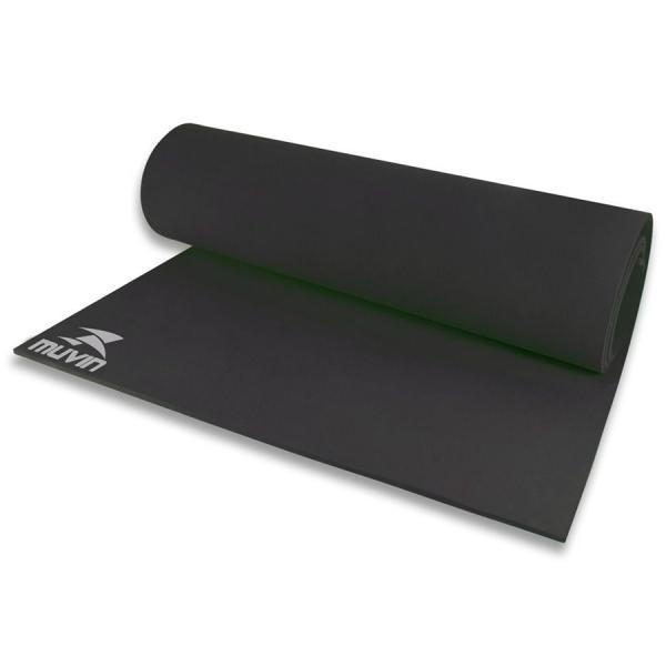 Tapete para Yoga em EVA - 180cm X 60cm X 0,5cm - Preto - Muvin