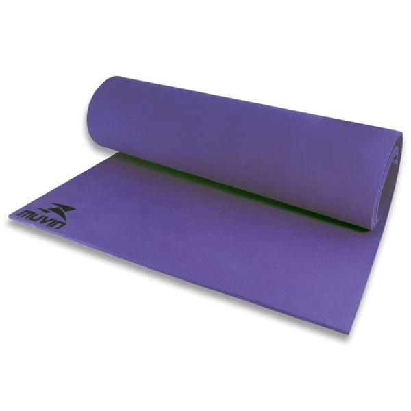 Tapete para Yoga em EVA - 180cm X 60cm X 0,5cm - Roxo - Muvin