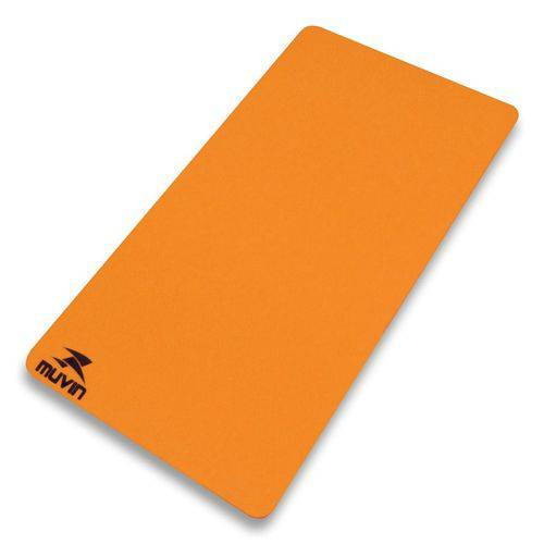 Tapete para Yoga / Pilates em Eva - Muvin Laranja 180X60X6mm