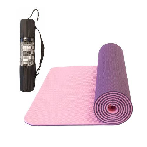 Tudo sobre 'Tapete Yoga Tpe Mat Pilates Ginástica 173x61x0,6cm com Bolsa'