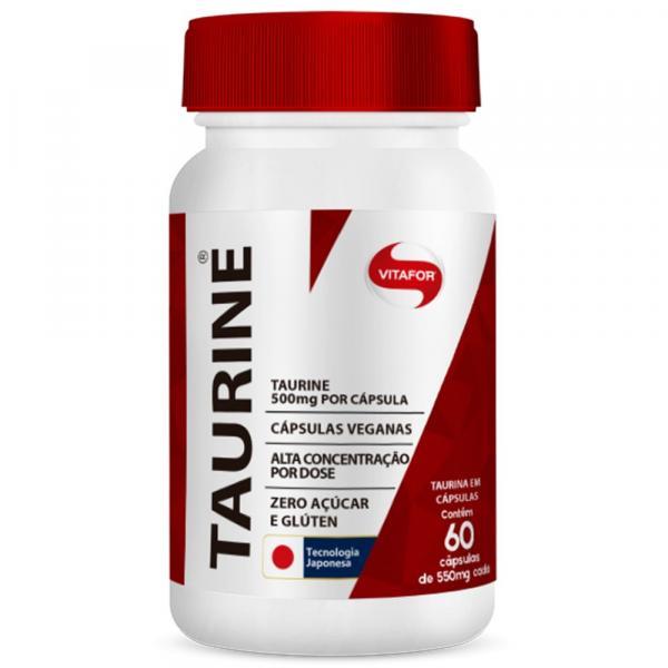 Taurine 550mg 60 Cápsulas Vitafor