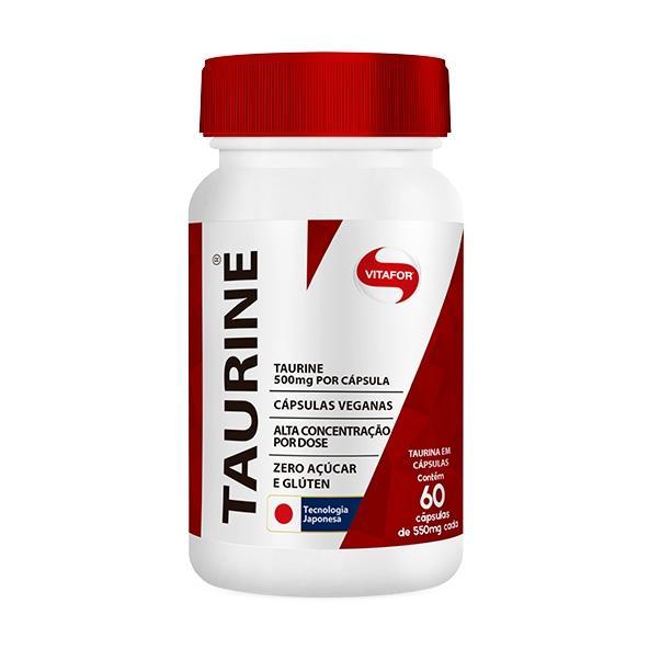 Taurine Pote 60 Cápsulas 550mg - Vitafor