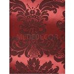 Tecido para Paredes Jacquard Vermelho e Preto Medalhão ou Listrado 2,80m