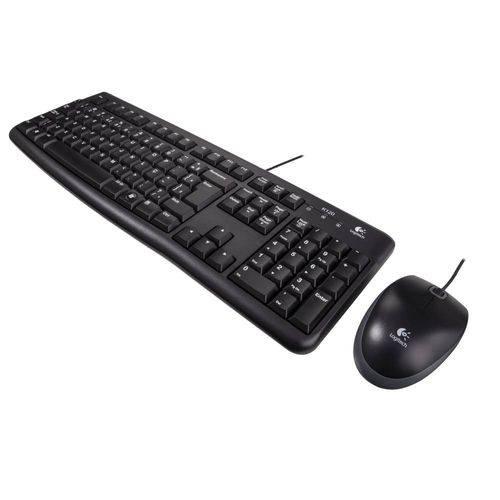 Teclado e Mouse MK120 com Fio USB