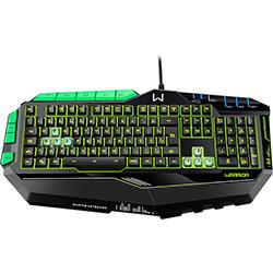 Teclado Gamer Profissional Preto e Verde com Led USB - Multilaser