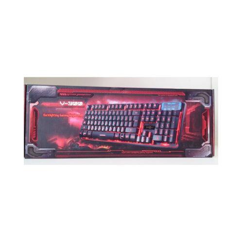 Teclado Gamer Semi Mecânico V-300 Preto