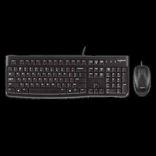Teclado + Mouse LOGITECH USB MK120 PRETO