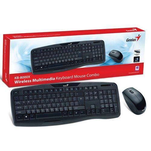 Teclado Mouse Wireless Genius Kb-8000x