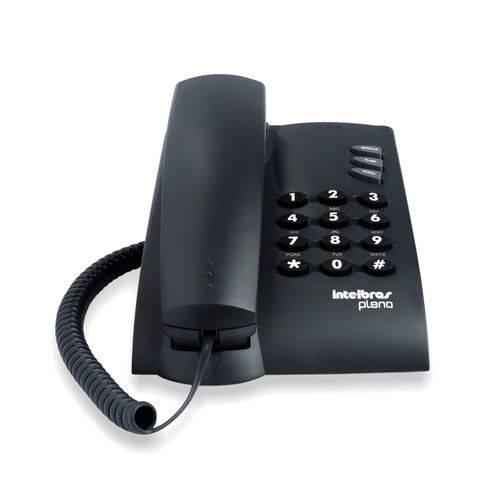 Telefone com Fio Intelbras Pleno Preto 100 Ms