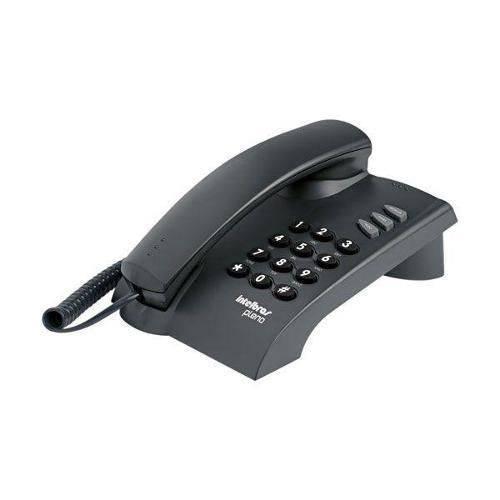 Telefone com Fio Intelbras Pleno Preto Sem Chave 4080051