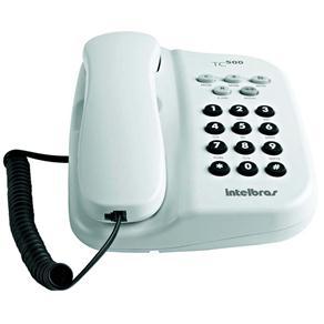Telefone com Fio Intelbras TC 500 - Branco Ártico