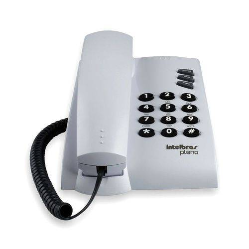 Telefone com Fio Pleno Cinza Artico Intelbras