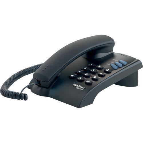 Telefone com Fio Pleno com Chave Preto Intelbras 4080057