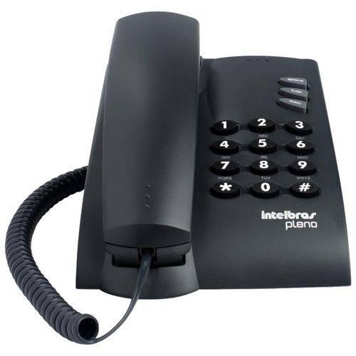 Telefone com Fio Pleno com Chave Preto Intelbras