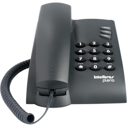 Telefone com Fio Pleno Preto