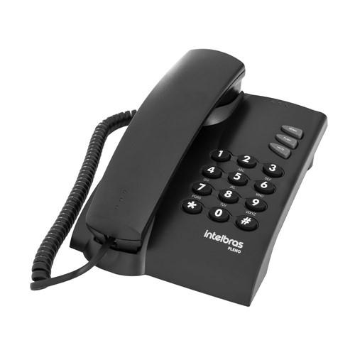 Telefone com Fio Sem Chave de Bloqueio - Preto - Intelbras