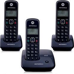 Telefone DECT Sem Fio Digital com Identificador de Chamadas e 2 Ramais Auri 2000-MRD3 Motorola