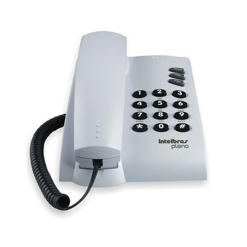 Telefone Intelbras com Fio Pleno Cinza Artico - 4080055