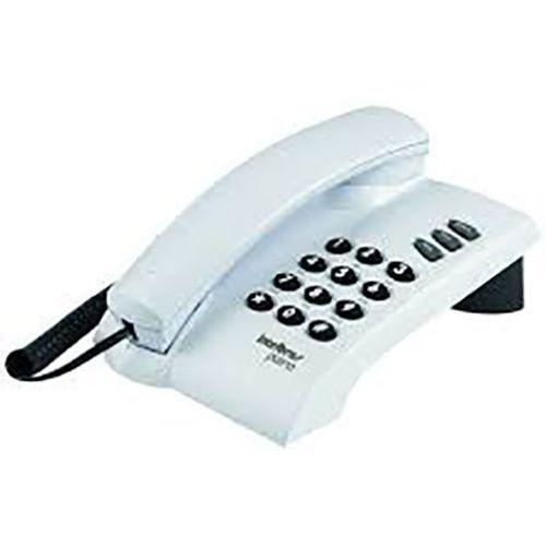 Telefone Intelbras Pleno com Fio Cinza Artico