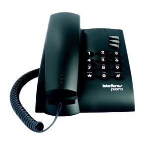 Telefone Intelbras Pleno Preto com Chave com Fio 4080057