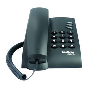 Telefone Intelbras Pleno Preto Sem Chave com Fio 4080051