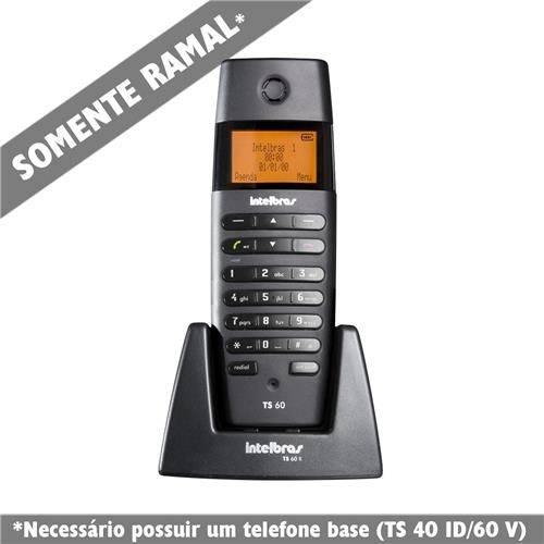 Telefone Ramal Sem Fio Ts 60 R Preto - Intelbrás