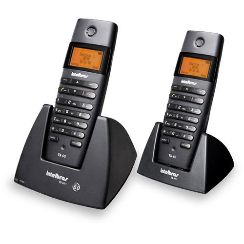 Telefone S/ Fio C/ Identificador de Chamdas, Viva-Voz e Display Iluminado Ts60c - Intelbras Ramal