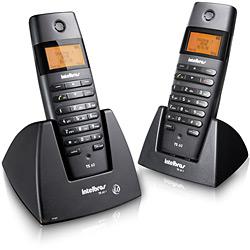 Telefone S/ Fio DECT 6.0 C/ Identificador de Chamadas, Viva-Voz e Display Iluminado+ Ramal S/ Fio C/ Identificador de Chamadas, Viva-Voz e Display Iluminado - TS60C - Intelbras