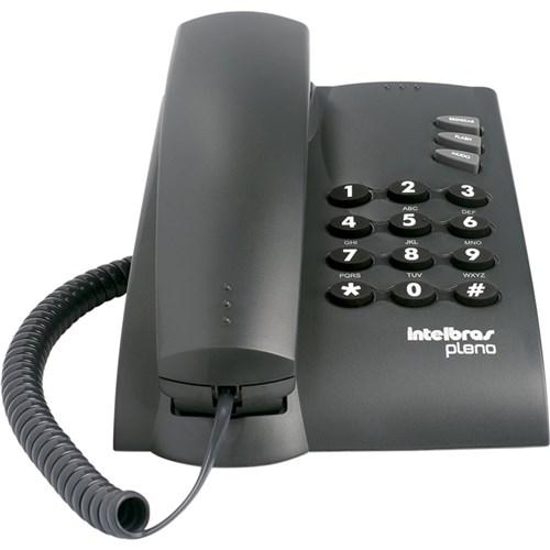 Telefone Sem Chave com Fio - Pleno 4080051 - Intelbras (Preto)