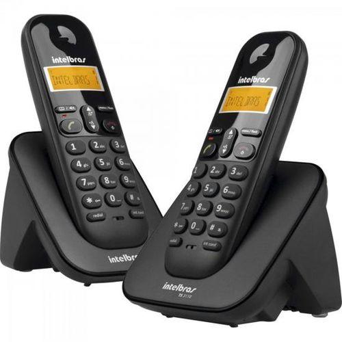 Telefone Sem Fio com Id + 1 Ramal Ts-3112 Preto Intelbras