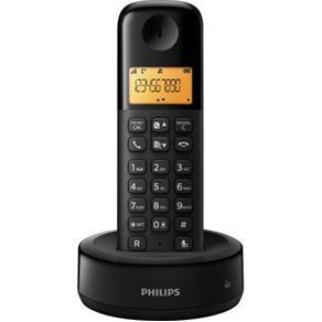 Tudo sobre 'Telefone Sem Fio com Id D1301b/Br Preto Philips'