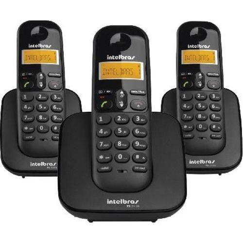 Tudo sobre 'Telefone Sem Fio com Identificador de Chamadas + 2 Ramais Ts3113 Preto'