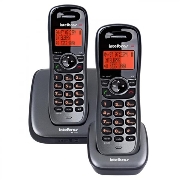 Telefone Sem Fio com Ramal Preto Ts6122 Intelbras