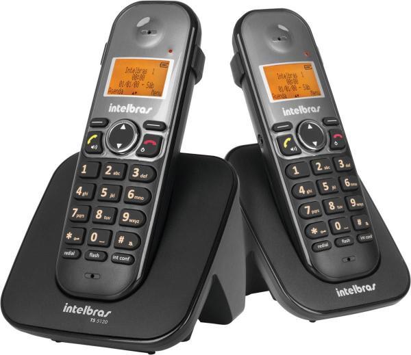 Telefone Sem Fio com Ramal Ts 5122 Preto Intelbras - 23913