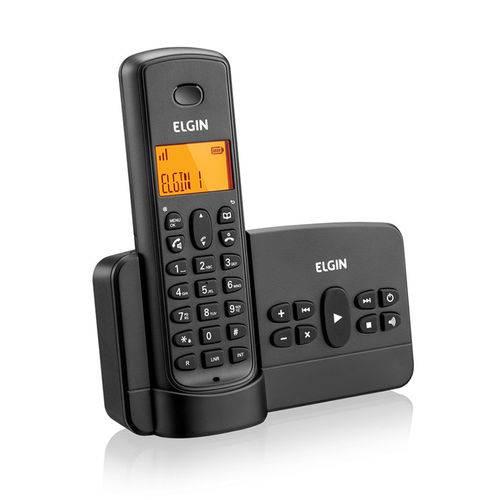 Telefone Sem Fio com Secretária Eletrônica TSF800SE Preto- Elgin