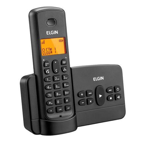 Telefone Sem Fio Elgin TSF800SE Preto - Agenda, Acesso Remoto, Viva Voz
