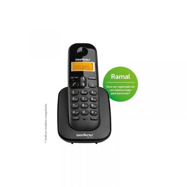 Telefone Sem Fio Intelbras TS 3111 Ramal Preto