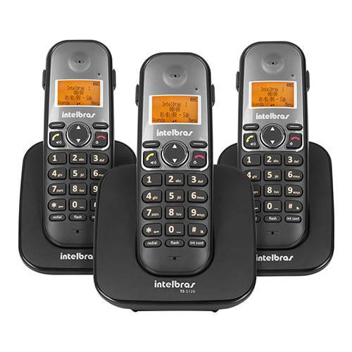 Telefone Sem Fio Intelbras TS 5123 com Ramal Preto